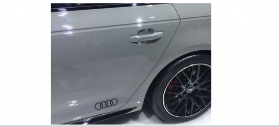 Amazoncom Audi Matte BLACK Rear Emblem Decal Logo Trunk