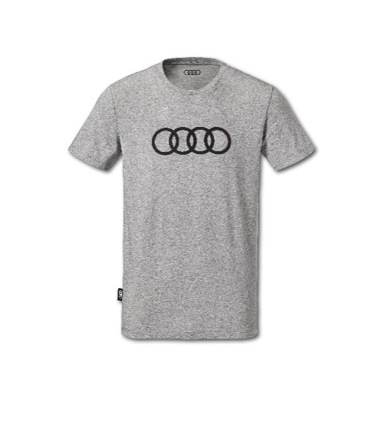 audi t shirt ringe herren grau m 3131701813 shop. Black Bedroom Furniture Sets. Home Design Ideas