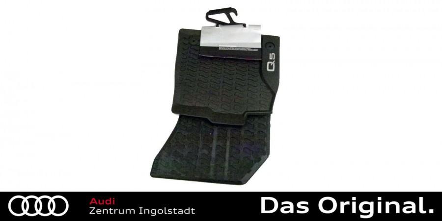Original Audi Q5 hinten Gummifußmatten Matte Allwetterfußmatten Satz vorn FY