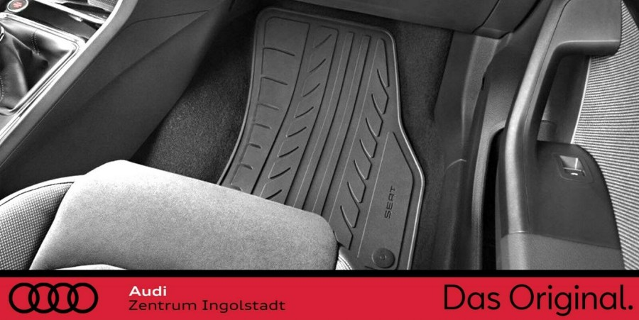 Gummi Fußmatten Gummimatten Auto Set Satz Set SEAT ATECA 2016-2019 winter
