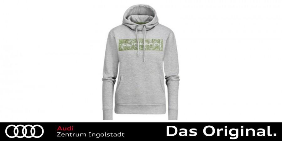 neue Season Spielraum 100% Zufriedenheit Original Audi quattro Hoodie, Damen, hellgrau, M 3131900703