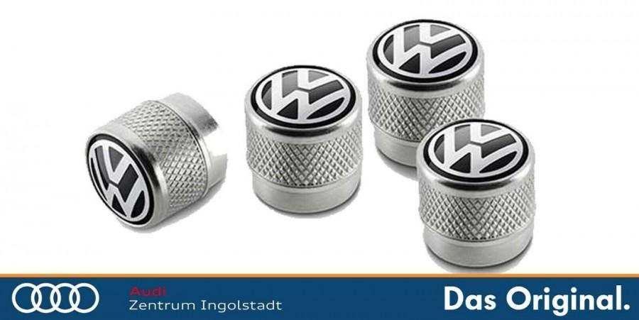 Original Volkswagen Ventilkappen mit VW-Logo für Gummi-//Metallventile 000071215