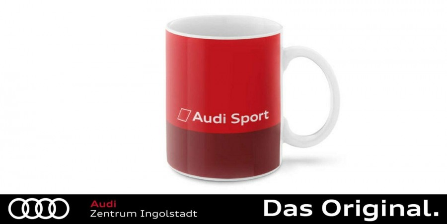 329180070 Original Audi Sport GmbH quattro Tasse Becher Porzellan weiß//schwarz